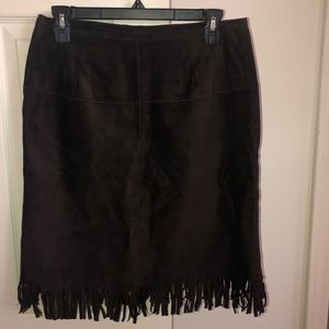 Authentic Brown Suede Skirt